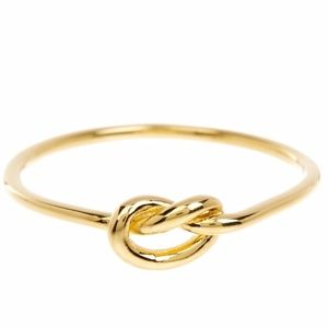 Urban Outfitters Gold Knot Tie Ring